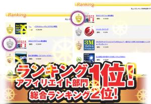 2013年2月アフィリ部門の売り上げ1位になりました!